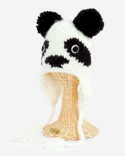 San Diego Hat Company - Kids Panda Pom Ear Trapper