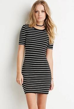 Forever 21 - Ribbed Stripe Bodycon Dress