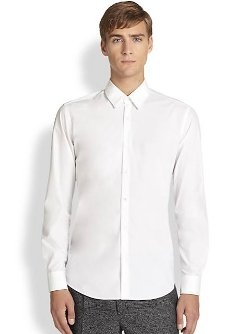 Fendi - Solid Woven Dress Shirt