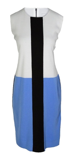 Misook - Scoopneck Colorblock Dress