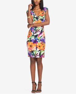 Lauren Ralph Lauren - Adara Floral-Print Surplice Sheath Dress