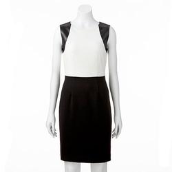 Vicky Tiel - Colorblock Sheath Ponte Dress