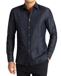 John Varvatos Star USA - Dark Denim Slim Fit Button Down Shirt