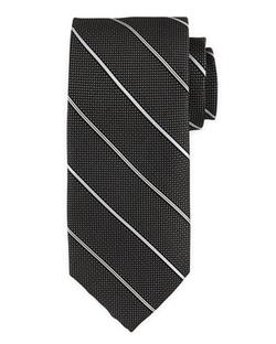 Neiman Marcus  - Textured-Stripe Silk Tie