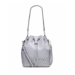 Michael Michael Kors  - Dottie Studded Leather Large Bucket Bag
