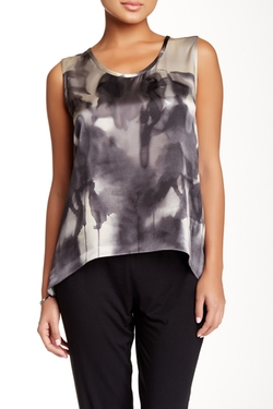 Eileen Fisher - Scoop Neck Long Silk Tank Top