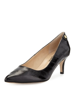 Neiman Marcus - Stroll Pointed-Toe Eelskin Pump Shoes