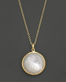 Ippolita - 18K Yellow Gold Lollipop Pendant Necklace in Mother-Of-Pearl