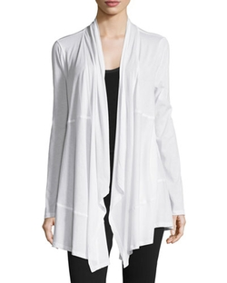 Donna Karan - Draped-Front Long-Sleeve Wrap Cardigan