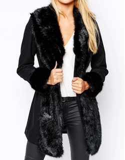 Michelle Keegan - Loves Lipsy Wool Fur Princess Coat
