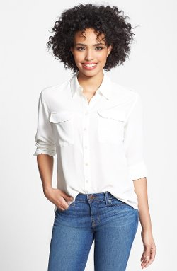 Two by Vince Camuto - Silk Utility Blouse