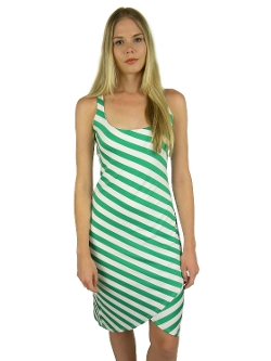 Susana Monaco - Cowl Neck Striped Sleeveless Dress