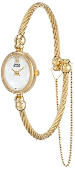 Titan - Raga Inspired Gold Tone Bangle Watch