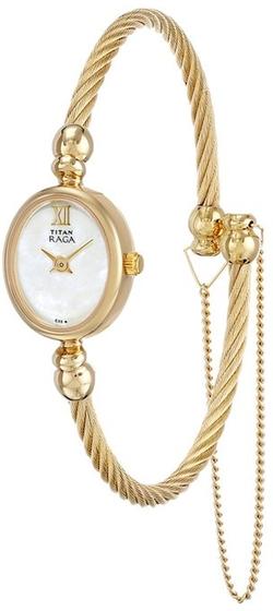 Titan - Raga Inspired Gold Tone Bangle Watch