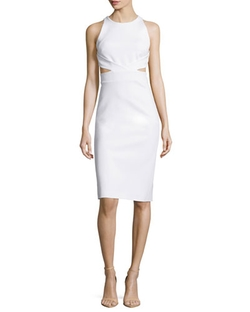 Cushnie Et Ochs - Sleeveless Cutout-Back Sheath Dress