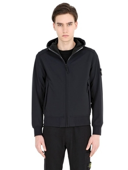 Stone Island - Hooded Zipped Softshell Jersey Jacket