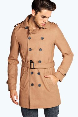 Boohoo - Double Breasted Belted Coat