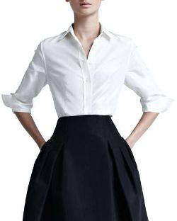 Carolina Herrera - Silk Taffeta Shirt