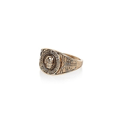 River Island - Gold Tone Skull Signet Ring