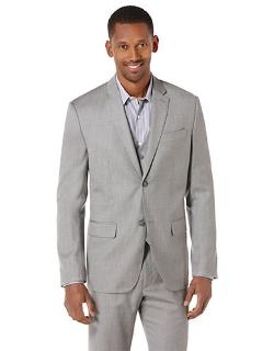 Perry Ellis - Herringbone Textured Suit Jacket