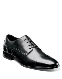 Florsheim - Jet Leather Cap-Toe Oxford Shoes