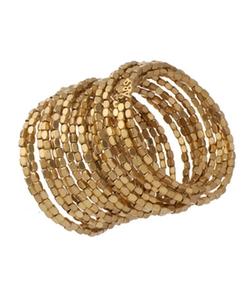 Abs Gold Coil Bracelet - Gold Coil Bracelet