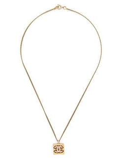 Chanel  - Vintage Gold Logo Pendant Necklace