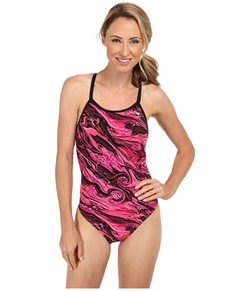 TYR - Pink Oil Slick Diamond Fit Swimsuit