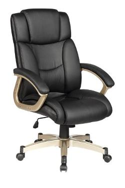 BestChair - High Back Executive Leather Ergonomic Office Chair w/Heavy Duty Metal Base