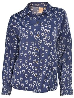 Billabong - Heart Print Button Shirt