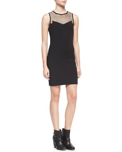 Rag & Bone	  - Franklin Fitted Mesh-Top Dress