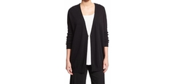 Joan Vass - One-Button Relaxed Cotton Cardigan