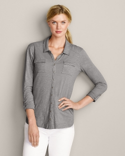 Eddie Bauer - 3/4-Sleeve Button-Down Shirt