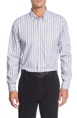 Cutter & Buck  - Philip Classic Fit Stripe Poplin Sport Shirt