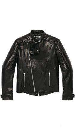 Public School  - Washed Coated Leather Jacket