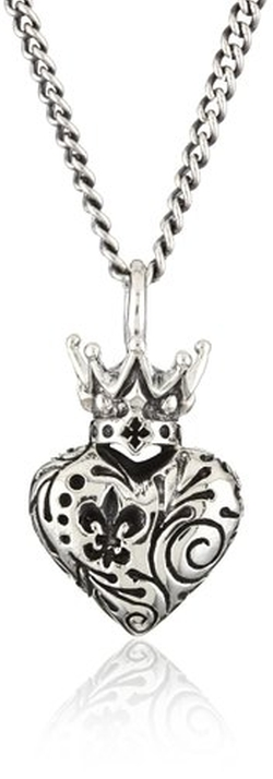 King Baby - The Dead Crowned Heart Pendant Necklace
