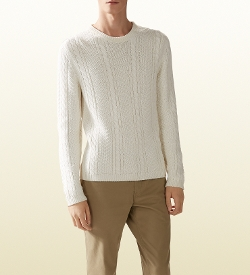 Gucci - Wool Viscose Cable Knit Sweater
