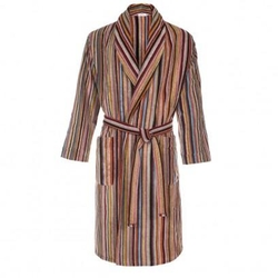 Paul Smith - Striped Towelling Dressing Gown