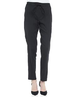Vince  - Linen-Blend Drawstring Jogging Pants