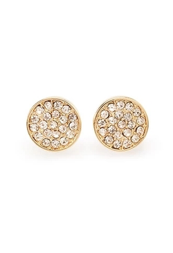 Forever 21 - Rhinestone-Encrusted Disc Studs Earrings
