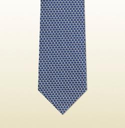 GUCCI - patterned woven silk tie