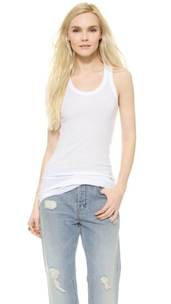 Wilt  - Ribbed Cotton Racer Tank Top