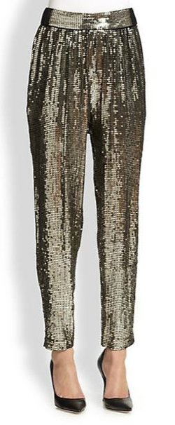 Alice + Olivia  - Sequined Trouser Pants
