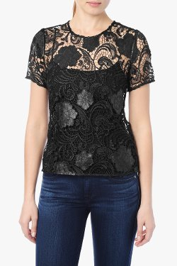 7 For All Mankind - Soutache Lace Tee Shirt