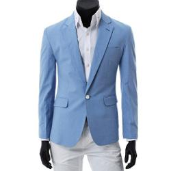 Hee Grand  - Mens Vivid One-Button Blazer