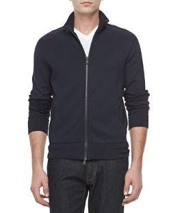 Ralph Lauren Black Label  - Jersey Zip-Front Track Jacket