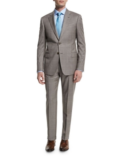 Armani Collezioni  - G-Line Windowpane Two-Piece Wool Suit