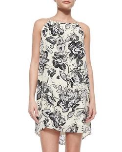 Michael Stars   - Floral-Print Sleeveless Dress