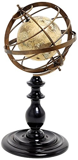 Old Modern Handicrafts  - Globe in Brass Rings