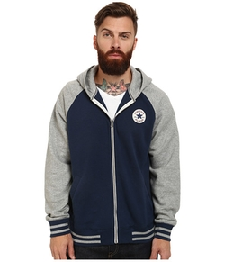 Converse - Patch Hooded Baseball Jacket